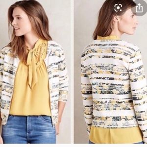 Anthropologie Array Zip Up Cardigan Sweater Small